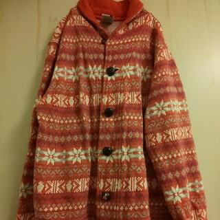 チャムス(CHUMS)のCHUMS チャムス 雪の結晶柄ジャケット 綿 赤 メンズXS レディースM~L(その他)