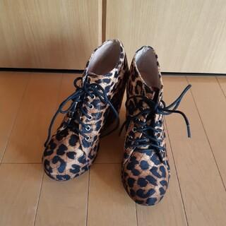 ジェフリーキャンベル(JEFFREY CAMPBELL)のジェフリーキャンベル 厚底パンプス ブーツ 厚底 ウェッジ レオパード ヒョウ柄(ブーツ)