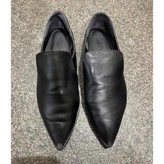 ステュディオス(STUDIOUS)のSTUDIOUS ローファー ブラック サイドゴアメンズライク(ローファー/革靴)