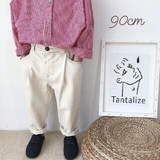ベビーギャップ(babyGAP)の【ラスト1点】90cm ホワイトデニムパンツ(パンツ/スパッツ)