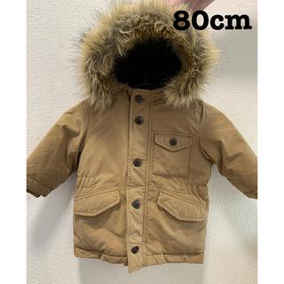 ベビーギャップ(babyGAP)のbabygap 真冬のダウンモッズコートジャケット 80(ジャケット/コート)
