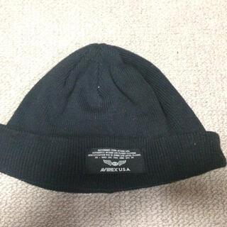 アヴィレックス(AVIREX)のAVIREX ブラックニット帽(ニット帽/ビーニー)