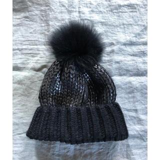 ドゥーズィエムクラス(DEUXIEME CLASSE)の新品 HELENEBERMAN フォックスファーニット帽(ニット帽/ビーニー)