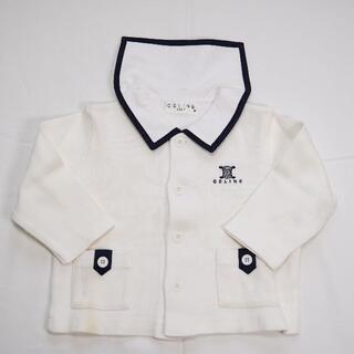 セリーヌ(celine)のCELINE BABY 80 襟付きカーディガン 白 セリーヌ 子供服(カーディガン/ボレロ)