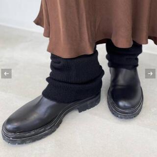 アパルトモンドゥーズィエムクラス(L'Appartement DEUXIEME CLASSE)のL'Appartement Cashmere Leg Warmer ブラック(レッグウォーマー)