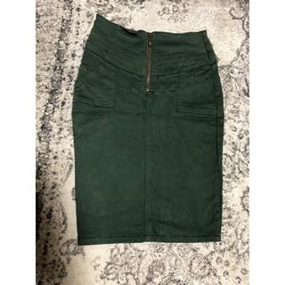 ムルーア(MURUA)のMURUA カーキデニム生地膝丈スカート未使用(ひざ丈スカート)