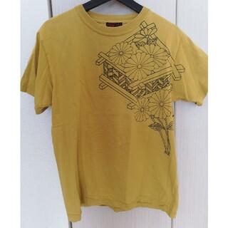 カラクリタマシイ(絡繰魂)の泥棒日記 菊 からし色Tシャツ Mサイズ(Tシャツ/カットソー(半袖/袖なし))