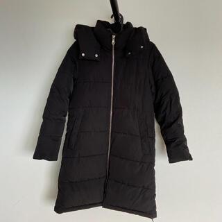 ジーユー(GU)のGU 2way中綿コート アウターS 中綿ジャンパー フード(ロングコート)