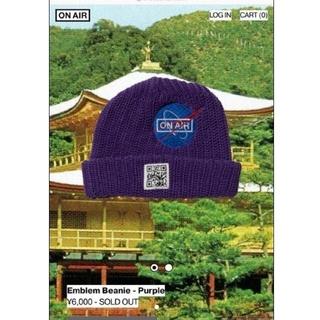 シュプリーム(Supreme)の未使用品 ON AIR Emblem Beanie Purple KYNE(ニット帽/ビーニー)