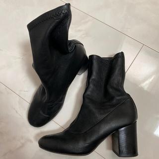 ユナイテッドアローズ(UNITED ARROWS)のユナイテッドアローズ購入 PIPPICHIC ストレッチショートブーツ 23.5(ブーツ)