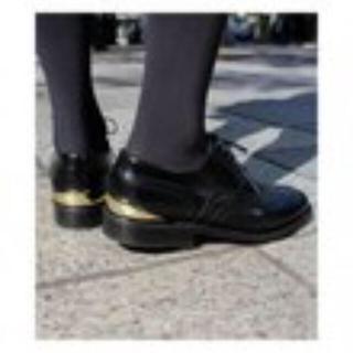 ドゥーズィエムクラス(DEUXIEME CLASSE)のCAMINANDO プレートウイングチップシューズ サイズ36(ローファー/革靴)