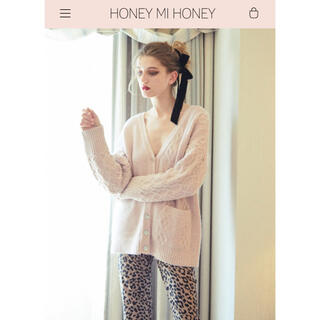 ハニーミーハニー(Honey mi Honey)の新品HONEYMIHONEY2019awケーブルVネックカーディガン(カーディガン)