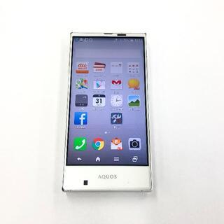 シャープ(SHARP)のau AQUOS SHV31 ホワイト(スマートフォン本体)