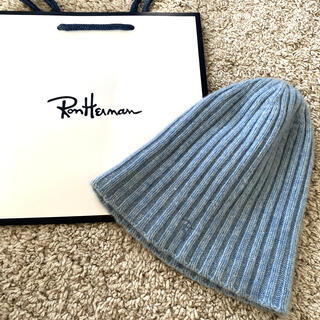 ロンハーマン(Ron Herman)のロンハーマン ニット帽 逗子店オープン 美品(ニット帽/ビーニー)