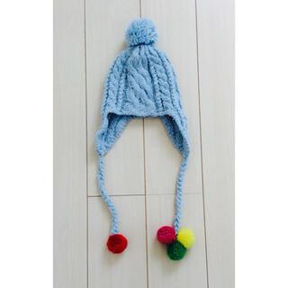 ロキシー(Roxy)のロキシー*可愛い ボンボリ ニット帽*防寒 雪遊び Roxy(帽子)