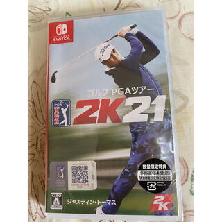 ニンテンドースイッチ(Nintendo Switch)のゴルフ PGAツアー 2K21 Switch 新品未開封(家庭用ゲームソフト)