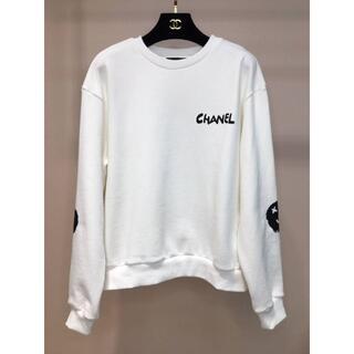 シャネル(CHANEL)のシャネルロゴスウェットシャツ(トレーナー/スウェット)