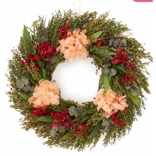 フランフラン(Francfranc)のナチュラルリース L  グリーン×レッド   クリスマス リース(リース)
