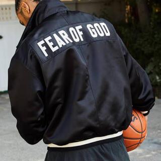 フィアオブゴッド(FEAR OF GOD)のFear of god 5th サテンジャケット S ハーフジップ (ブルゾン)