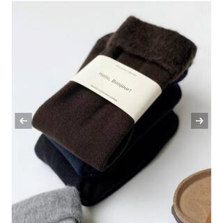 アパルトモンドゥーズィエムクラス(L'Appartement DEUXIEME CLASSE)の未使用品 L'Appartement warm socks(ソックス)
