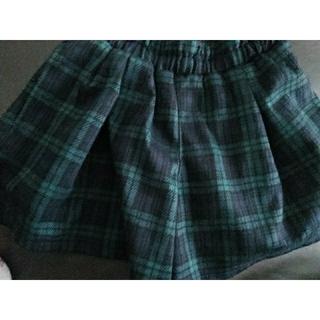 GU - 最終値下げ GU  チェック柄キュロットスカート ショートパンツ 110