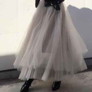 アメリヴィンテージ(Ameri VINTAGE)のAMERI VINTAGE チュールスカート(ロングスカート)