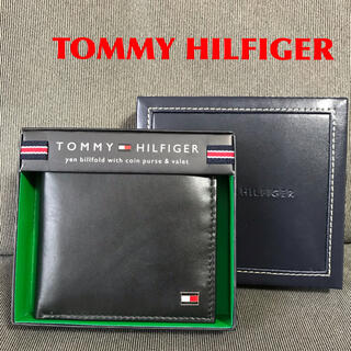 トミーヒルフィガー(TOMMY HILFIGER)のTOMMY HILFIGER トミーヒルフィガー 財布 二つ折り ブラック(折り財布)