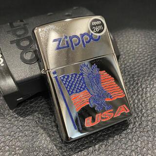 ジッポー(ZIPPO)の【ZIPPO】USA アメリカ国旗 イーグル ジッポライター 箱付き(タバコグッズ)