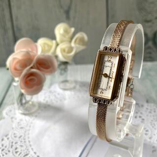 アガット(agete)の【美品】agete アガット 腕時計 K10 0.059ct ゴールド 限定(腕時計)