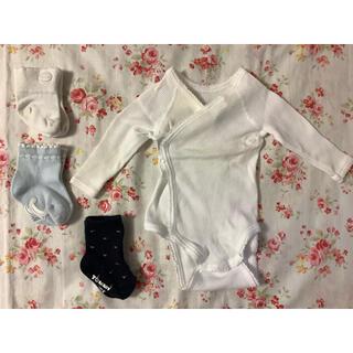 セリーヌ(celine)の新生児 セリーヌ トミー 靴下  プチバトーコンビ肌着 (靴下/タイツ)