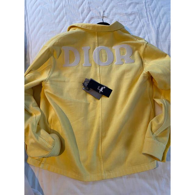 Dior(ディオール)のdior men stussy デニムシャツ 46サイズ メンズのジャケット/アウター(Gジャン/デニムジャケット)の商品写真