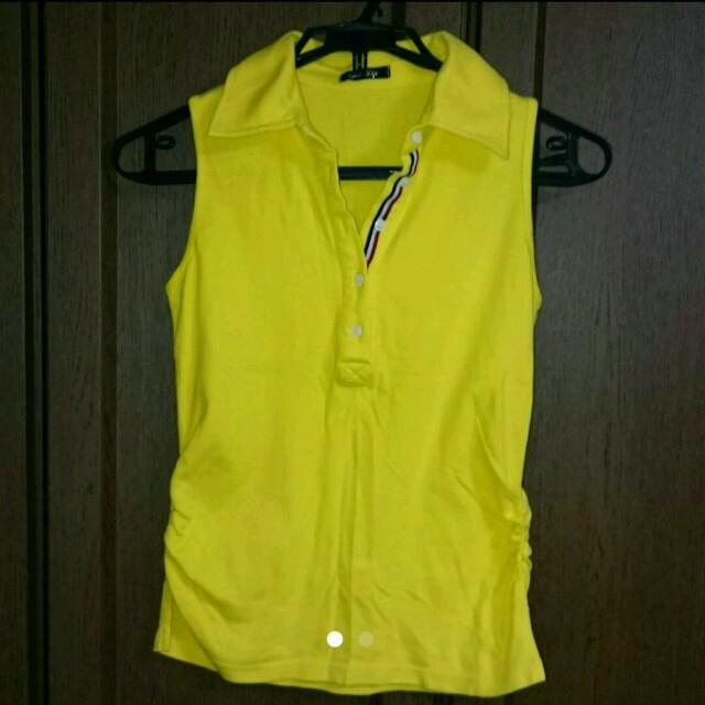 しまむら(シマムラ)のノースリーブ ポロシャツ レディースのトップス(カットソー(半袖/袖なし))の商品写真