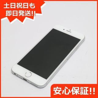 アイフォーン(iPhone)の新品同様 au iPhone6 16GB シルバー 白ロム(スマートフォン本体)