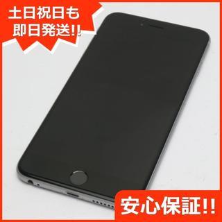 アイフォーン(iPhone)の新品同様 DoCoMo iPhone6 PLUS 64GB スペースグレイ (スマートフォン本体)