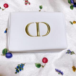 クリスチャンディオール(Christian Dior)のDiorディオール ホワイト ポーチ(ポーチ)