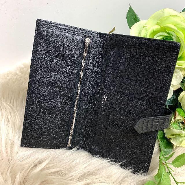 Hermes(エルメス)の【レア】 美品 エルメス ベアンスフレ クロコダイル 長財布 黒 メンズのファッション小物(折り財布)の商品写真