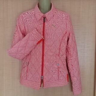 プーマ(PUMA)のPUMAプーマ 中綿入りジャケット (オレンジレッド系)Lサイズ(その他)