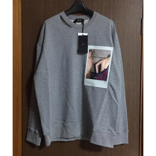 マルタンマルジェラ(Maison Martin Margiela)のS新品 N°21 スウェット シャツ ヌメロヴェントゥーノ メンズ グレー(スウェット)