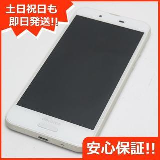 アクオス(AQUOS)の美品 SH-01K ホワイト 本体 白ロム (スマートフォン本体)