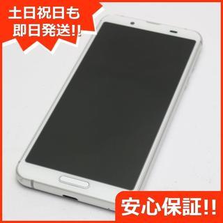アクオス(AQUOS)の美品 SHV45 シルバーホワイト スマホ 白ロム(スマートフォン本体)