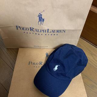 POLO RALPH LAUREN - ポロ ラルフローレン  キャップ ネイビー (袋付き)
