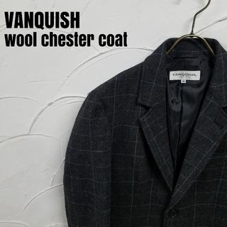VANQUISH - VANQUISH/ヴァンキッシュ ウール生地 チェック柄 チェスターコート