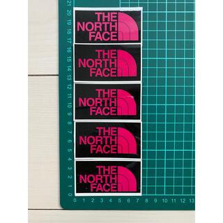 ザノースフェイス(THE NORTH FACE)のノースフェイス・5枚セット・ピンク ラミネートUV加工済、耐光性もあります!(ステッカー)