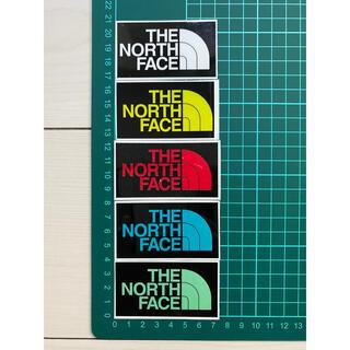 ザノースフェイス(THE NORTH FACE)のノースフェイス・5枚セット・5色 ラミネートUV加工済、耐光性もあります!(ステッカー)