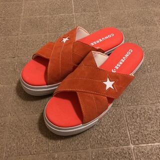 コンバース(CONVERSE)のConverse ONE STAR SANDAL SLIP オレンジ 28cm(サンダル)
