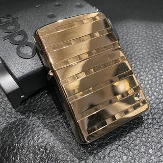 ジッポー(ZIPPO)の【ZIPPO】ゴールド 2003年製 ジッポライター 箱付き(タバコグッズ)