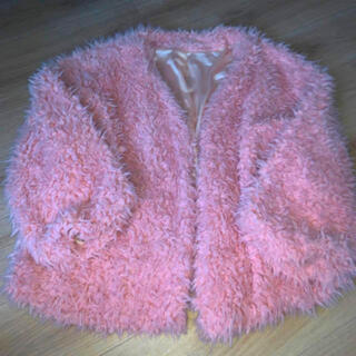 ウィゴー(WEGO)のピンク モコモコアウター(毛皮/ファーコート)
