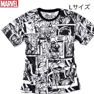 MARVEL コミックス ヒーロー コラージュ Tシャツ Lサイズ 新品