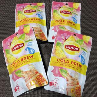 ユニリーバ(Unilever)のリプトン コールドブリュー パイナップル&ハイビスカスティー ティーバッグ 4袋(茶)