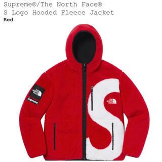 シュプリーム(Supreme)のsupreme north face hooded fleece red M(ブルゾン)